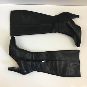 Banana Republic Vegan Leather High Black Boots 7.5